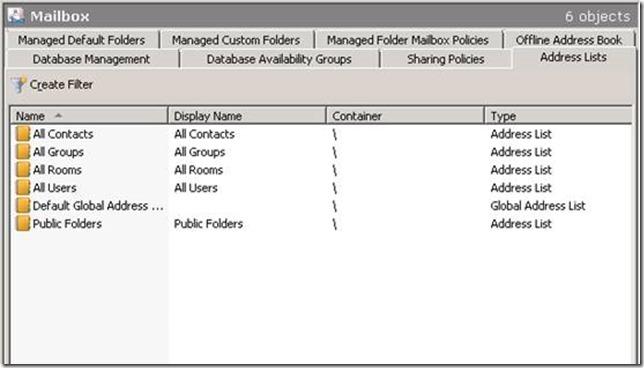 Custom Address List for Equipment Mailboxes – Address List