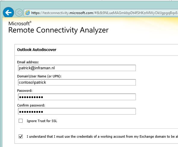 AutodiscoverRedirect in Exchange 2013 SP1 on Windows 2012 R2