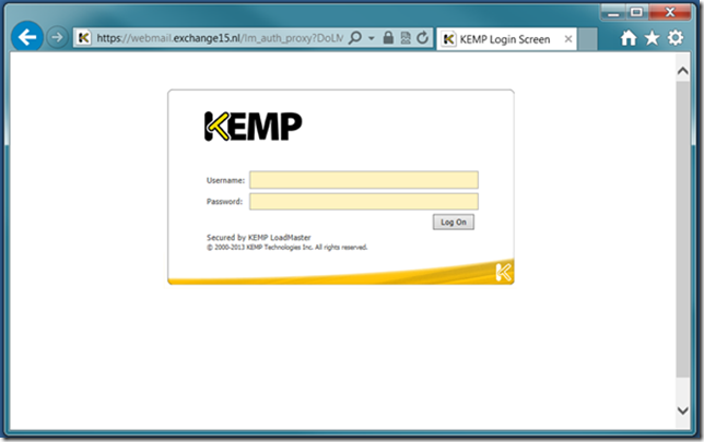 Kemp Edge Security Pack for Exchange 2013 | Jaap Wesselius