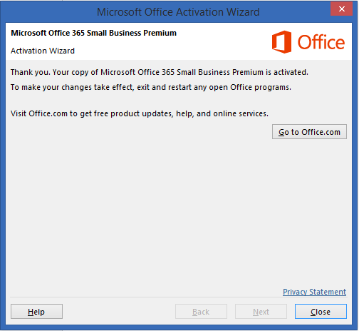 We've run into a problem with your Office 365 subscription