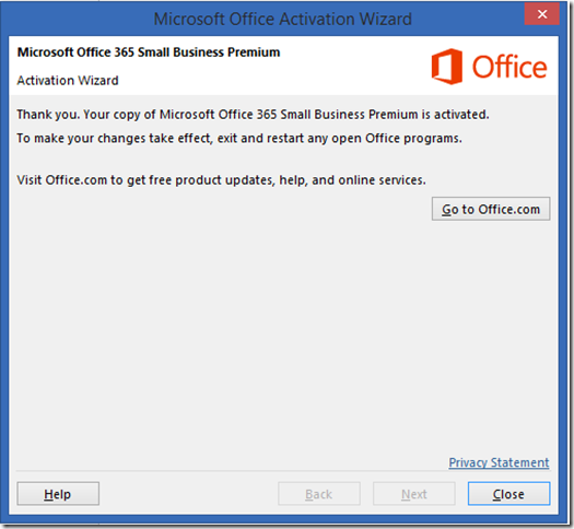 microsoft 365 activation wizard