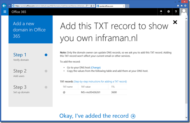 Manage domains in office 365 step by step jaap wesselius - Can i check my post office account online ...