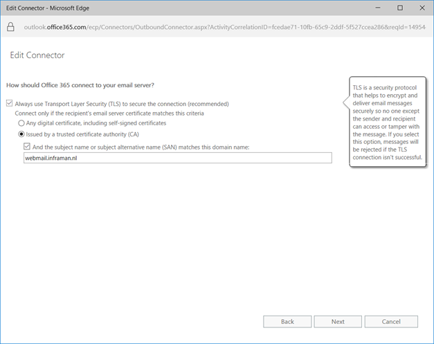 Exchange 2010 Hybrid cannot establish Mutual TLS wrong certificate ...