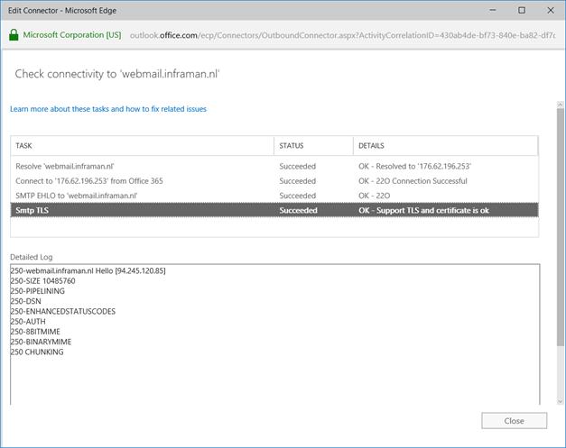 Exchange 2010 Hybrid cannot establish Mutual TLS wrong