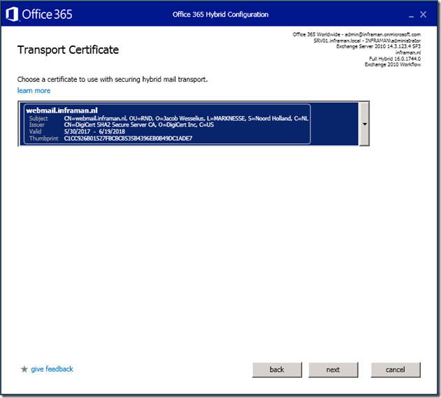 Exchange 2010 Hybrid Smtp Ssl Certificates And Subject Alternative