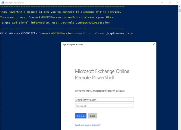Exchange Online PowerShell multi factor authentication (MFA