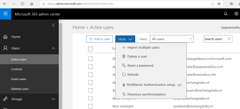 Multi Factor Authentication MFA in Office 365 for Admin