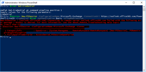 Connecting to remote server outlook office365 com failed