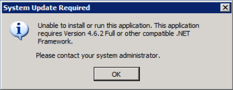 unable to install or run this application