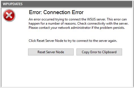 Error Connection Error