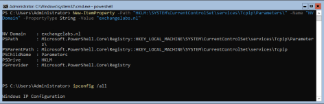 New-ItemProperty DNS Suffix