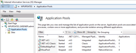 WSUS App Pool