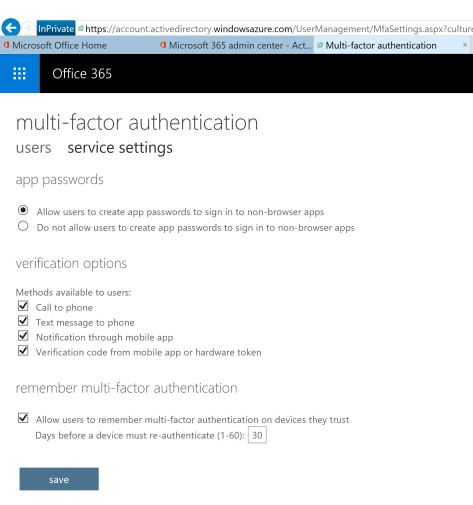 allow users to create app passwords