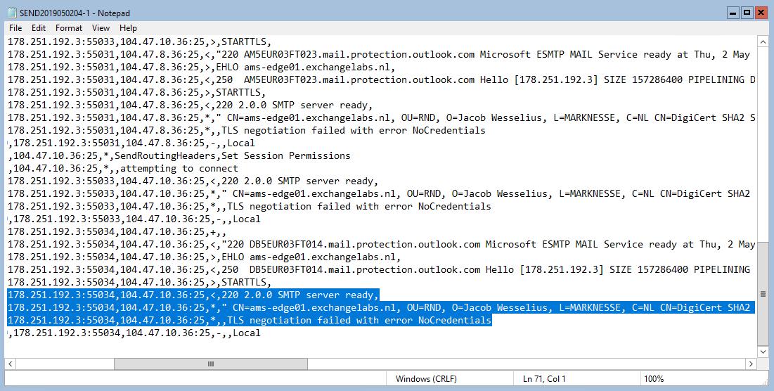 TLS Negotiation failed with error NoCredentials