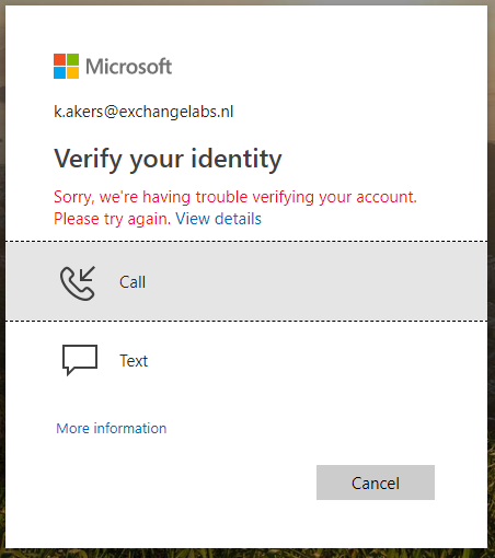 we are having trouble verifying your account
