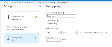 Azure Backup Policy