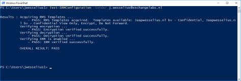 Test-IRMConfiguration