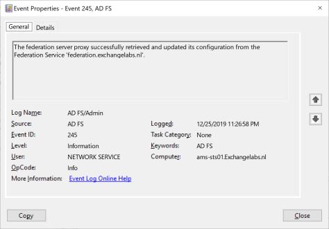 ADFS Event ID 245
