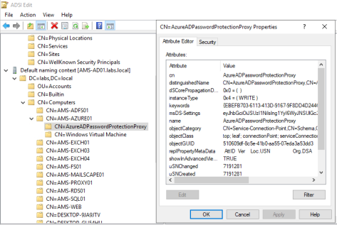 Azure AD Password Protection Proxy SCP