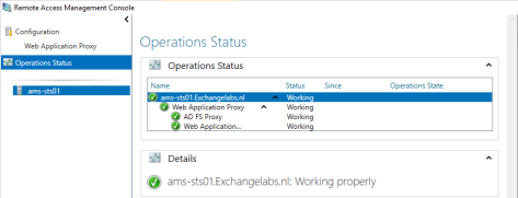 Remote Access Operational Status