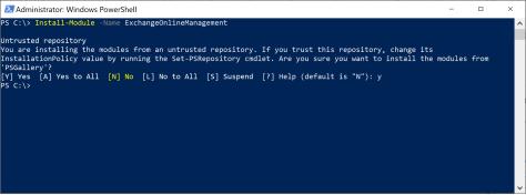 Install-Module ExchangeOnlineManagement