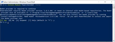 Install-Module PowershellGet