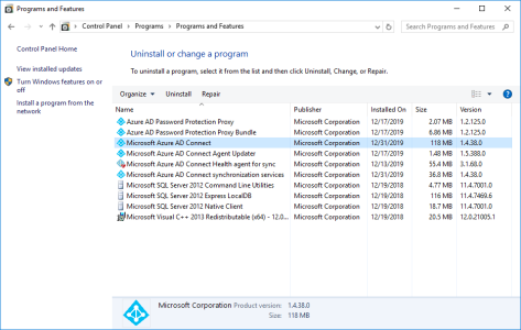 Azure AD Connect older versions