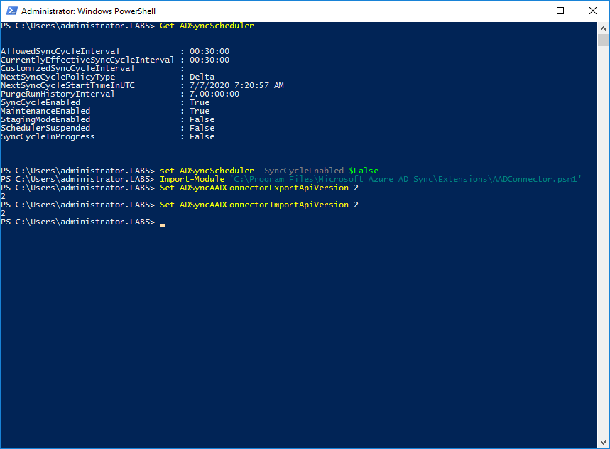 Azure AD Connect v2 endpoint