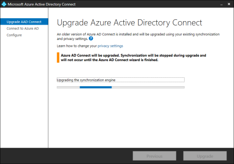 Upgrade Azure AD Connect