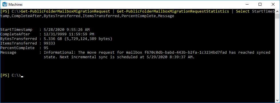 Get-PublicFolderMailboxMigrationRequestStatistics