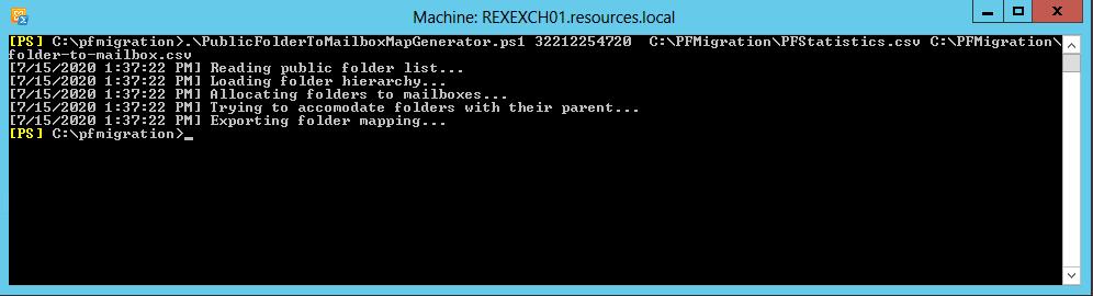 PublicFolderToMailboxMapGenerator